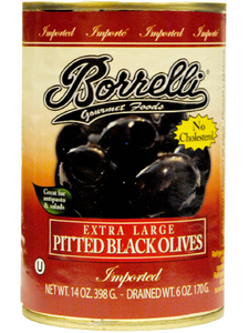 Pitted Black Olives (Extra Large), 14oz (398g)