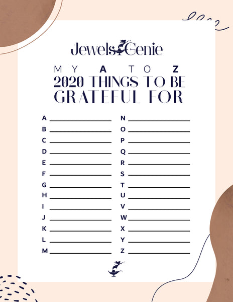 Things to be grateful from A to Z
