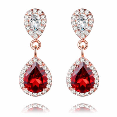 1ct Garnet Gemstone Silver Earrings Jewelry at Jewels Genie