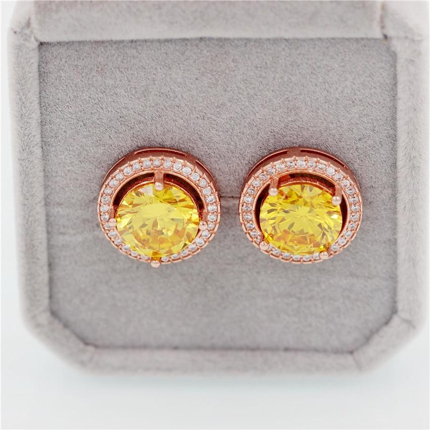 November Birthstone Natural Citrine Silver Earrings