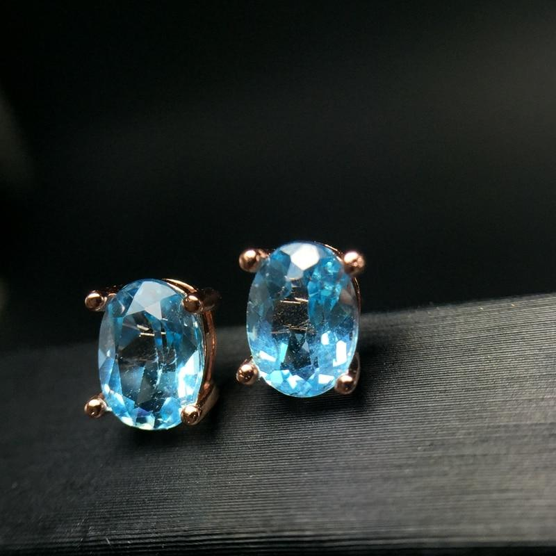 March Birthstone Aquamarine Silver Earrings