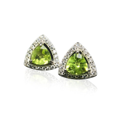 August Birthstone Peridot Silver Earrings Jewelry at Jewels Genie