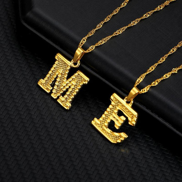 Capital Letter Necklaces - jewels-genie-store - jewelry