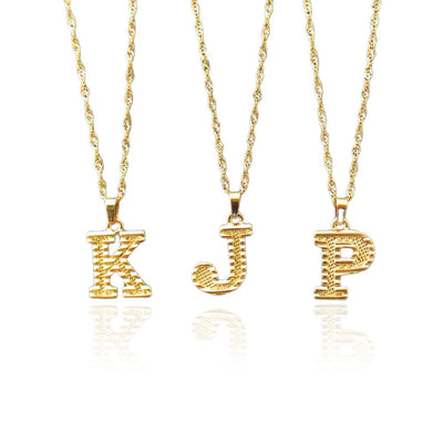 Capital Letter Stainless Steel Necklaces Jewelry at Jewels Genie