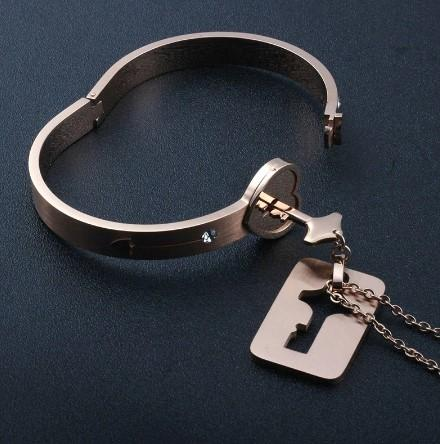 Concentric Lock Key Bracelet - jewels-genie-store - jewelry
