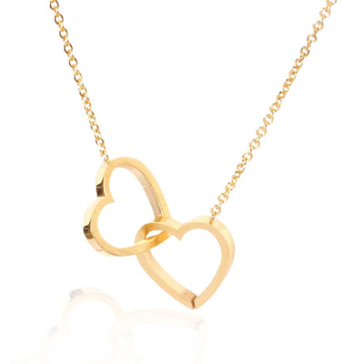 Double Heart Stainless Steel Pendants Necklaces Jewelry at Jewels Genie