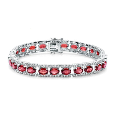 GEM'S BALLET 0.6Ct Natural Garnet Gemstone 925 Sterling Silver Vintage Bracelets&bangles For Women Wedding Engagement Jewelry Jewelry at Jewels Genie