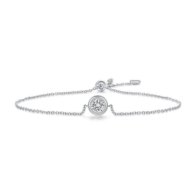 GEM'S BALLET 925 Sterling Silver Adjustable Bracelet 0.5Ct G Color Moissanite Diamond Jewelry Jewelry at Jewels Genie