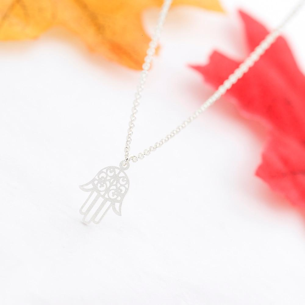 Hamsa Hand Stainless Steel Pendant Necklace