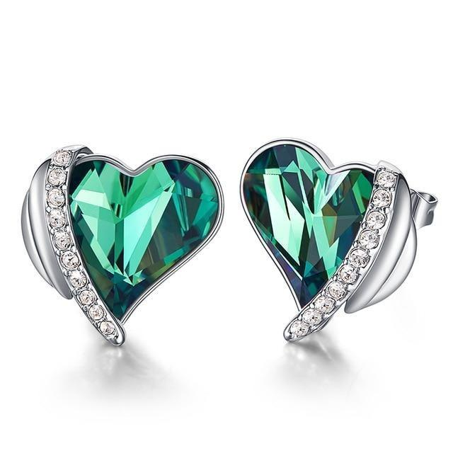 HEART CRYSTAL FROM SWAROVSKI STUD EARRINGS