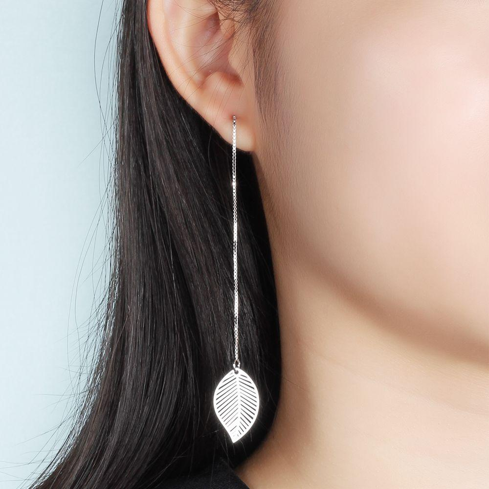 LEAF SILVER EARRINGS FOR WOMEN
