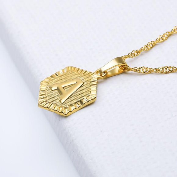 Letter A-Z Pendant Necklace - jewels-genie-store - jewelry