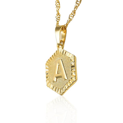 Letter A-Z Stainless Steel Pendant Necklace Jewelry at Jewels Genie