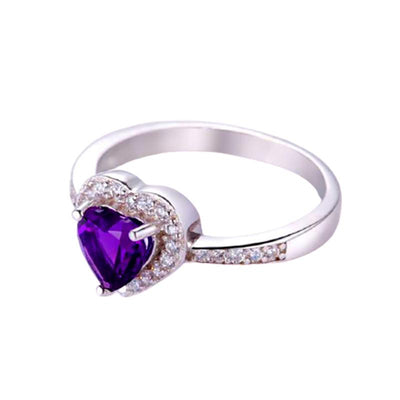 Love Heart Amethyst Ring Jewelry at Jewels Genie