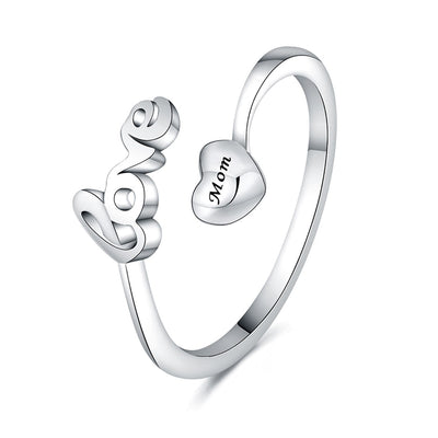 Love Mother Letters Adjustable Ring - jewels-genie-store - jewelry