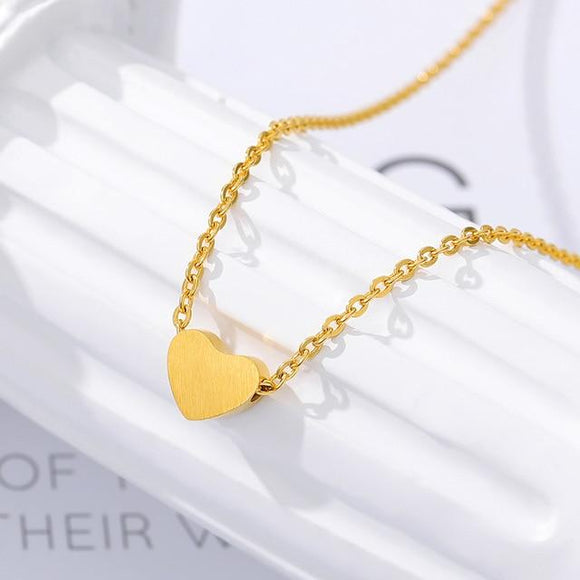 Minimalism Small Heart Pendant Necklace - jewels-genie-store - jewelry