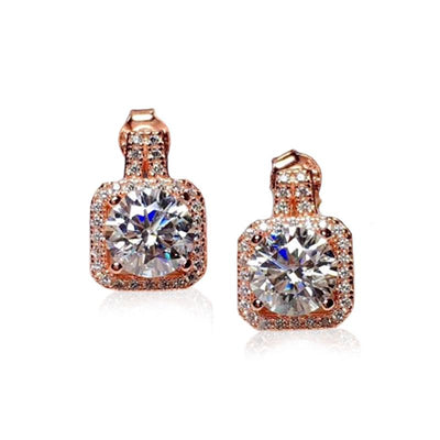Moissanite Stone Silver Earrings Jewelry at Jewels Genie