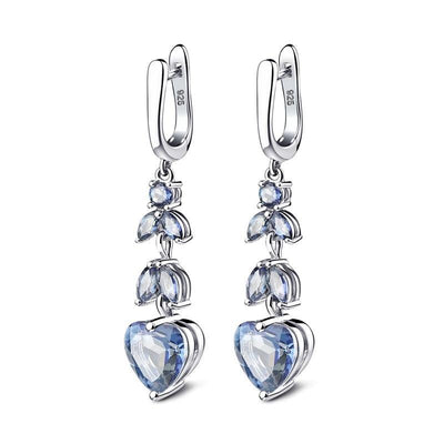 Natural Blue Mystic Quartz Silver Earrings Jewelry at Jewels Genie