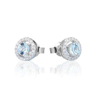 Natural Blue Topaz Silver Earrings Jewelry at Jewels Genie