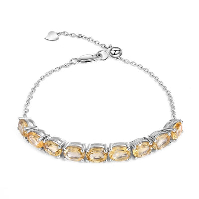 Natural Citrine Gemstone Silver Bracelets Jewelry at Jewels Genie