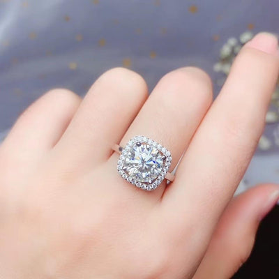 Natural Moissanite Ring - jewels-genie-store - jewelry