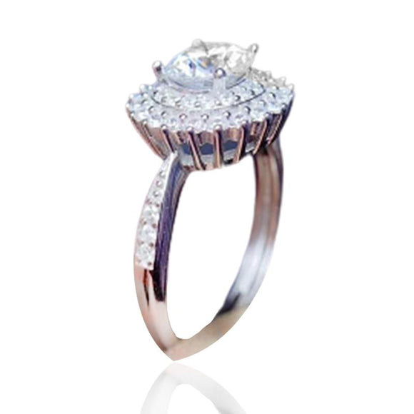 Natural Moissanite Solitaire Ring Jewelry at Jewels Genie