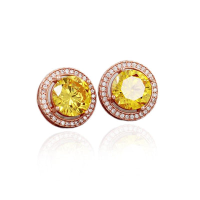 November Birthstone Natural Citrine Silver Earrings Jewelry at Jewels Genie