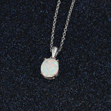 Oval Opal Necklace - jewels-genie-store - jewelry