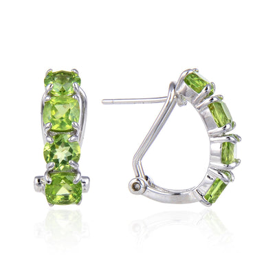 Peridot Gemstone Silver Earrings Jewelry at Jewels Genie