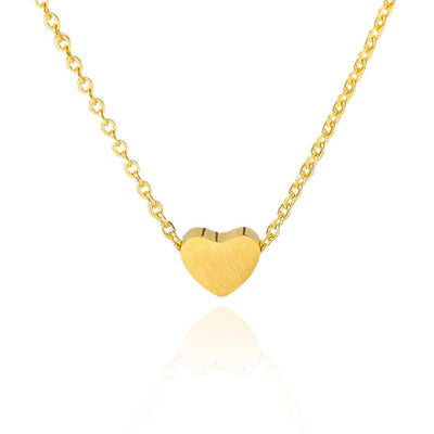 Small Heart Stainless Steel Pendant Necklace Jewelry at Jewels Genie