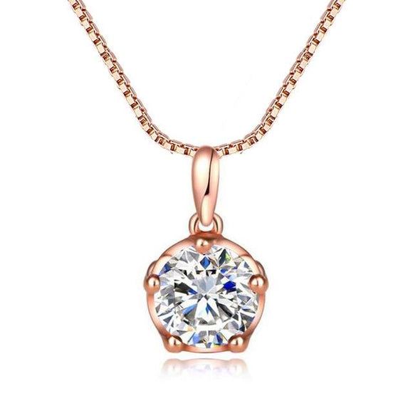 Small Round Solitaire Pendant - jewels-genie-store - jewelry