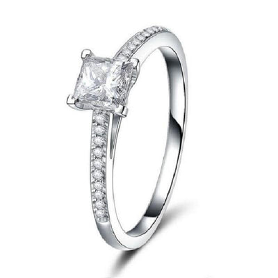Square Cut Crystal Rings - jewels-genie-store - jewelry