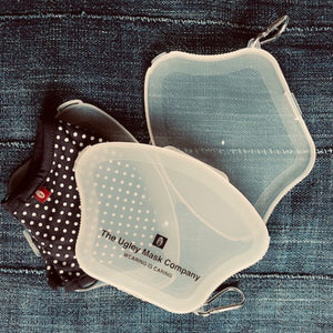 The Ugley Mask CLAM, Transparent slim case made for your mask