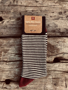 GIFT YOUR SOLE MATE - The Classic Ugley Mens Stripe sock