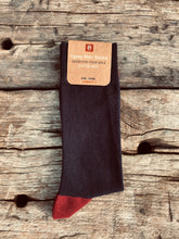 Load image into Gallery viewer, GIFT YOUR SOLE MATE - The Classic Ugley Mens Plain navy sock