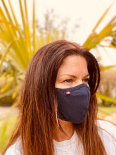 Load image into Gallery viewer, SUMMER HOLIDAY - PLAIN NAVY - Double layer, cotton jersey face covering/mask with Filter.