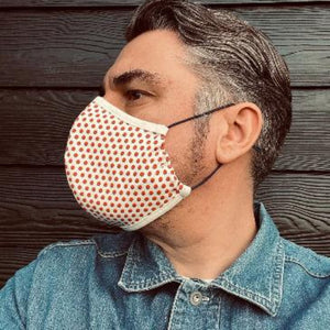 SPRING 21 THREE OF A KIND - Double layer cotton jersey face mask/covering with filter