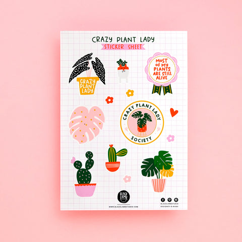 CRAZY PLANT LADY STICKER SHEET