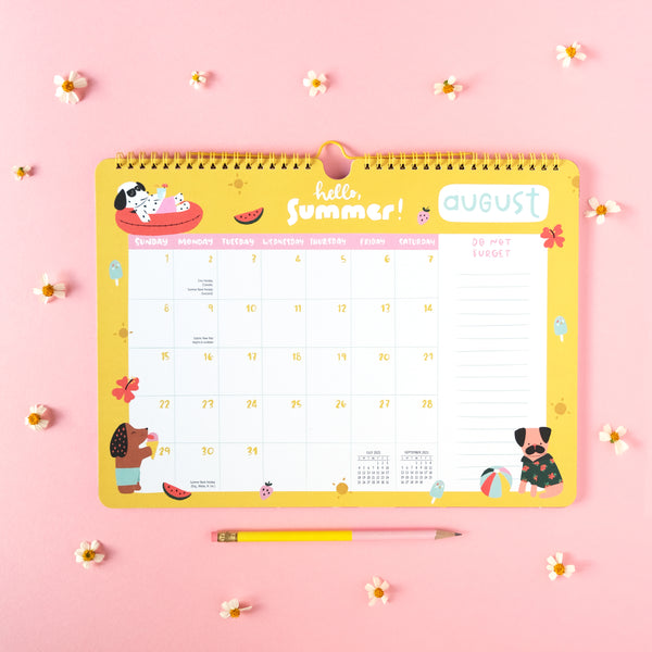 DOG MOM 17-Month Wall Planner