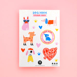 DOG MOM STICKER SHEET