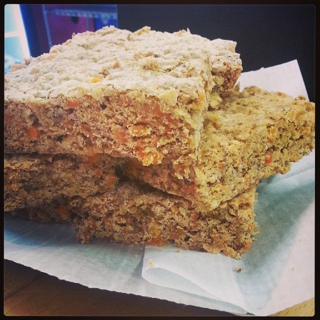 Vegan organic carrot blondies