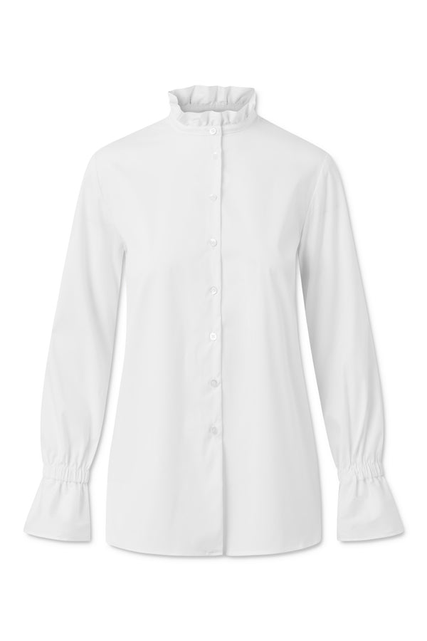 ANA FANCY POPLIN WHITE