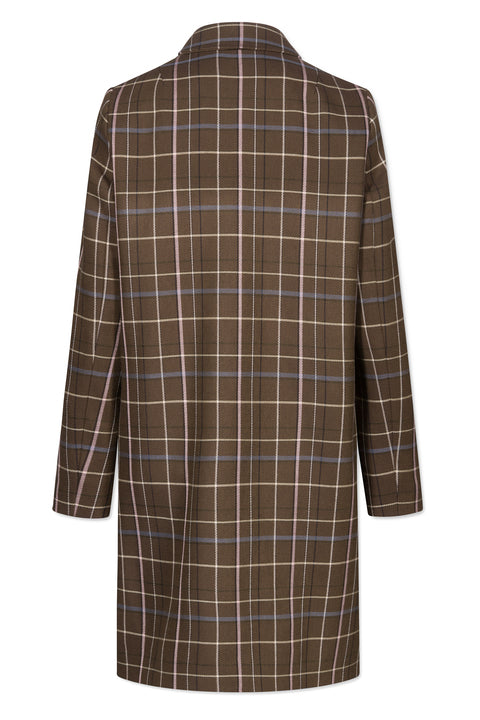 CARINE ARMY CHECK COAT