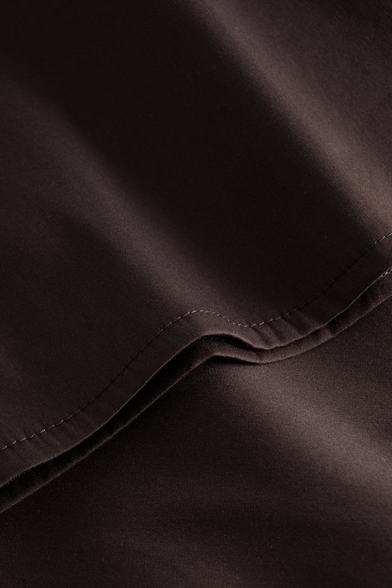 DAGA FANCY POPLIN DARK BROWN