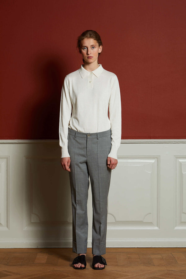 Hebe Melange Suit Light Grey