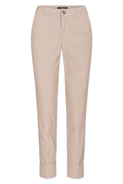 NYNNE STRETCH CHECK BEIGE
