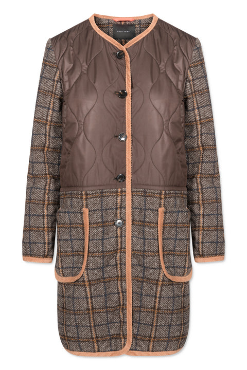 PETRA QUILTED CHECK BROWN BEIGE