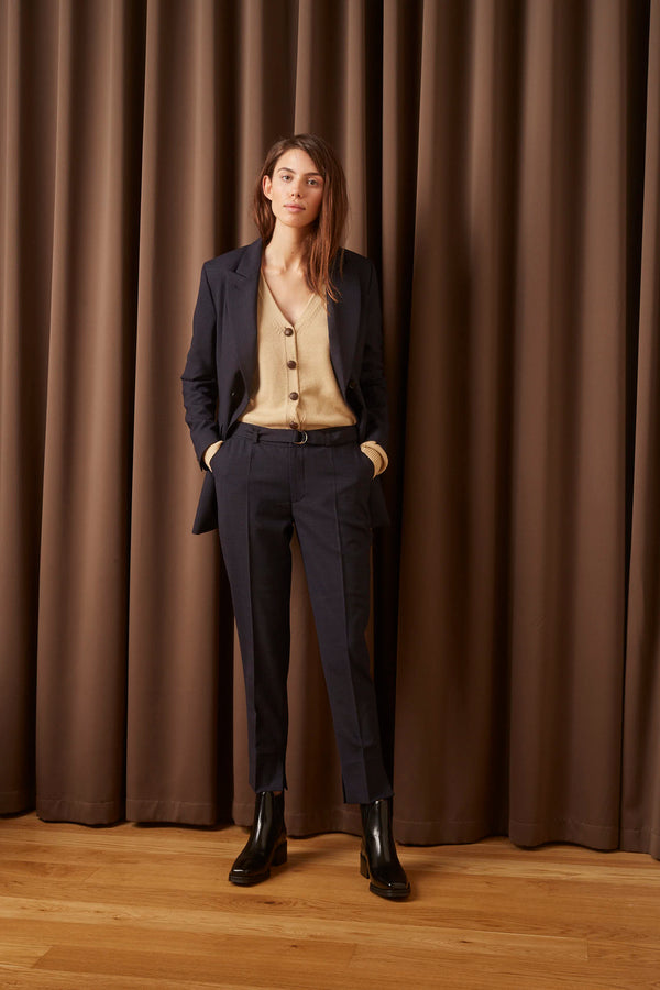 NICOLE CITY SUITING NAVY