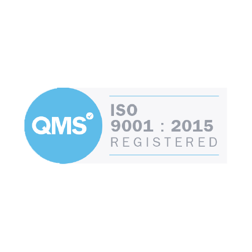 Accreditation logo for ISO 9001 registered company