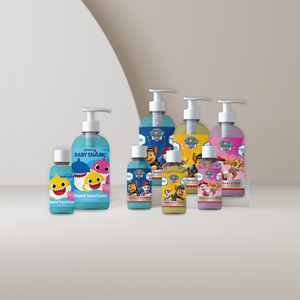 The Vital Life licensed hand sanitiser gel collection from PAW Patrol & Baby Shark